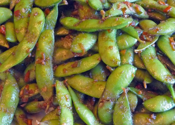 Stir-Fried Edamame w Garlic, Chili & Ginger (c) jfhaugen@gmail.com