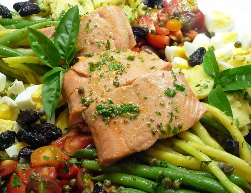 Salade Nicoise w/ Salmon—Summer On a Platter