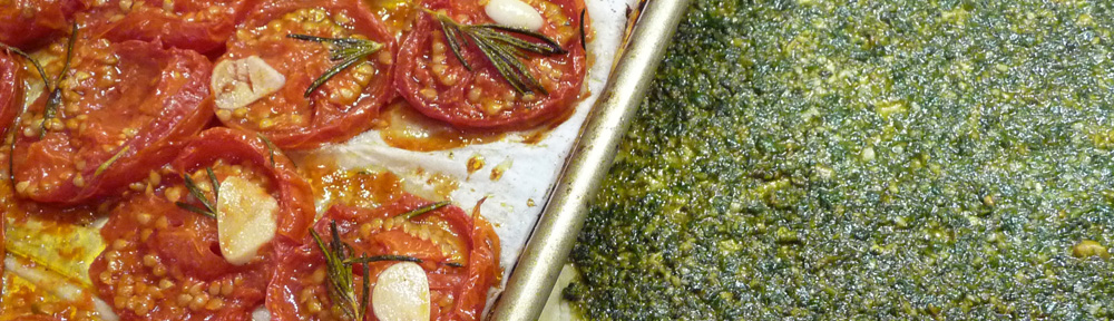 Tomato and Pesto Puff Pastry Tart