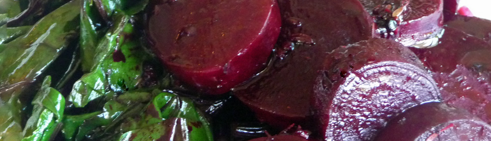 Roasted Beets w/ Balsamic Glaze & Greens