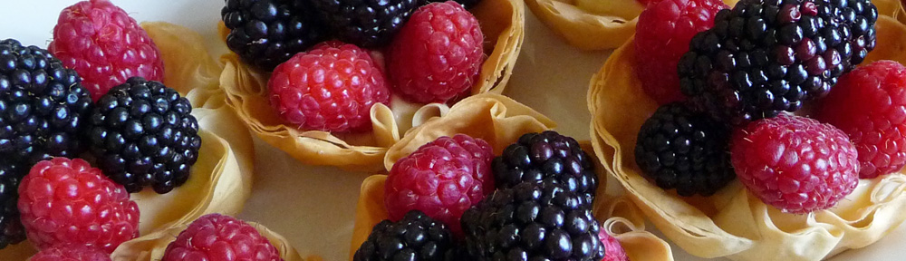 Phyllo Tartlets w/ Lemon Curd & Berries