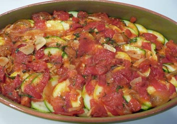 Summer Squash Tomato Bake ... Captures Summer's Essence