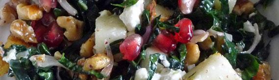 Kale Tabouli with Pear Walnut & Pomegranate