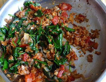 Chana Dal with Spinach & Tomatoes