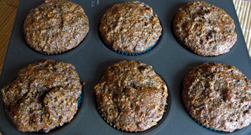 Wild Rice Cranberry Muffins with Flaxseeds and Coconut Milk