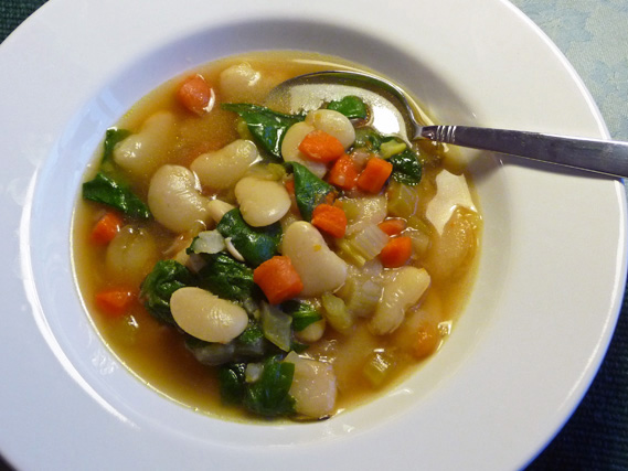 Creamy Lima Beans and Greens Soup