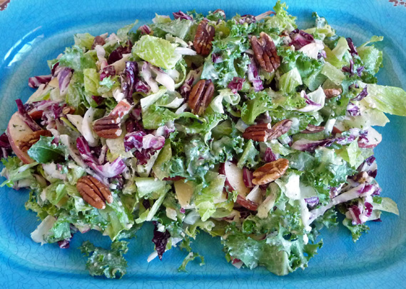 Fall Greens Pear Pecan Caesar Salad Begins with the Dressing