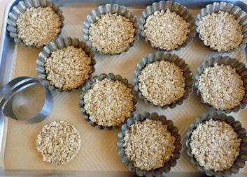 Apple Maple Apple Tartlets – Chunky Apple Jam Atop Gluten-Free Oat and Almond Crust