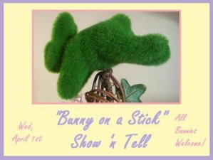 """Don't Forget! """"Bunny on a Stick"""" Party tomorrow!"""
