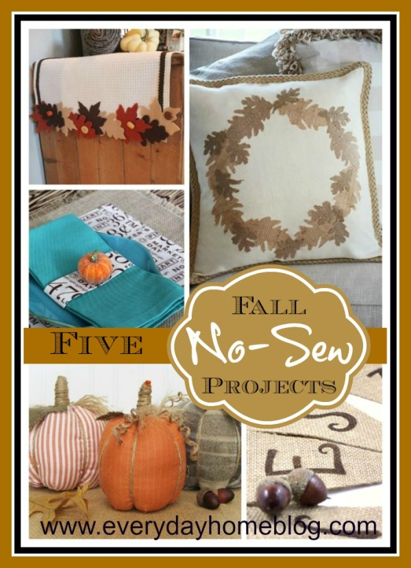 No Sew Fall Leaf Runner by The Everyday Home