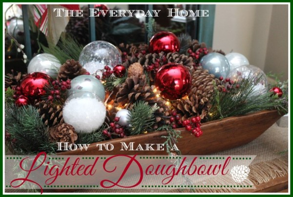 How to Make a Lighted Dough Bowl by The Everyday Home
