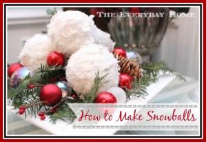 Snowball Christmas Ornaments
