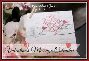 Valentine Message Calendar