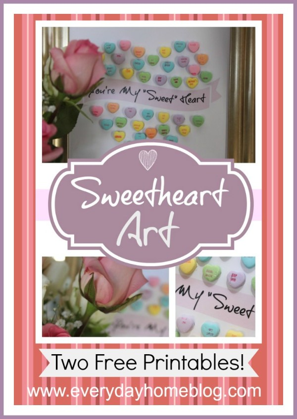 Framed Sweetheart Candy Art by The Everyday Home #Michaels #ValentinesDay #ValentinesCrafts #printables