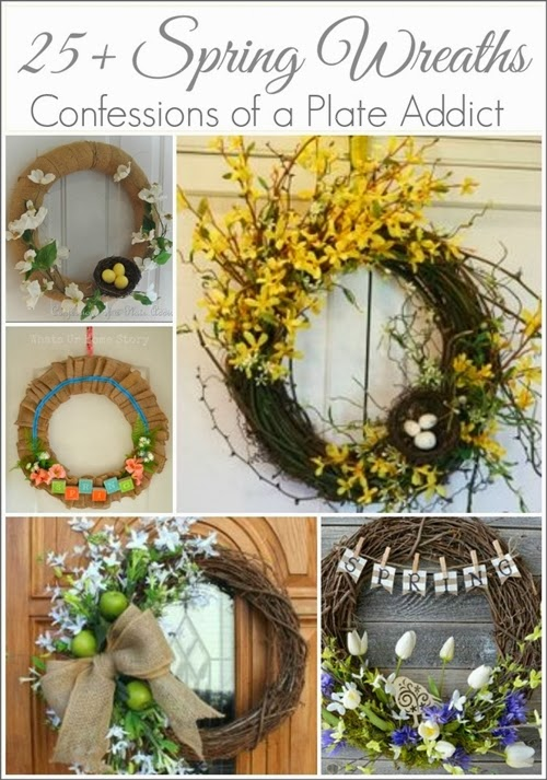 CONFESSIONS OF A PLATE ADDICT 25+ Spring Wreaths