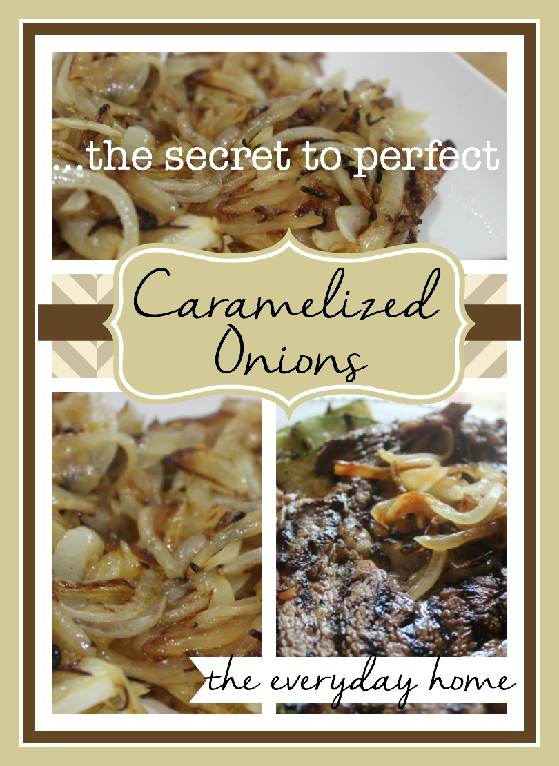 The Secret to Perfect Caramelized Onions by The Everyday Home  #cooking #recipes