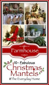 10 Gorgeous Farmhouse Style Christmas Mantels
