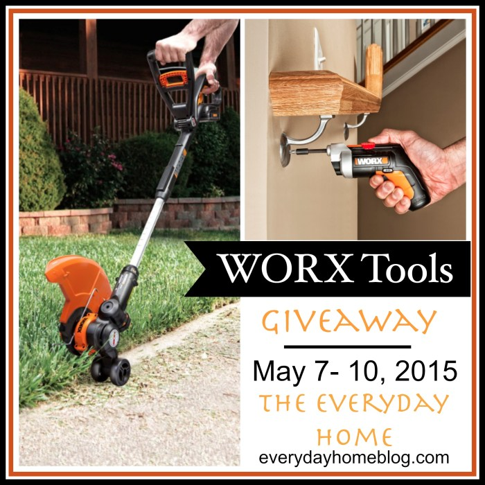 WORX Tools Giveaway at The Everyday Home / www.everydayhomeblog.com