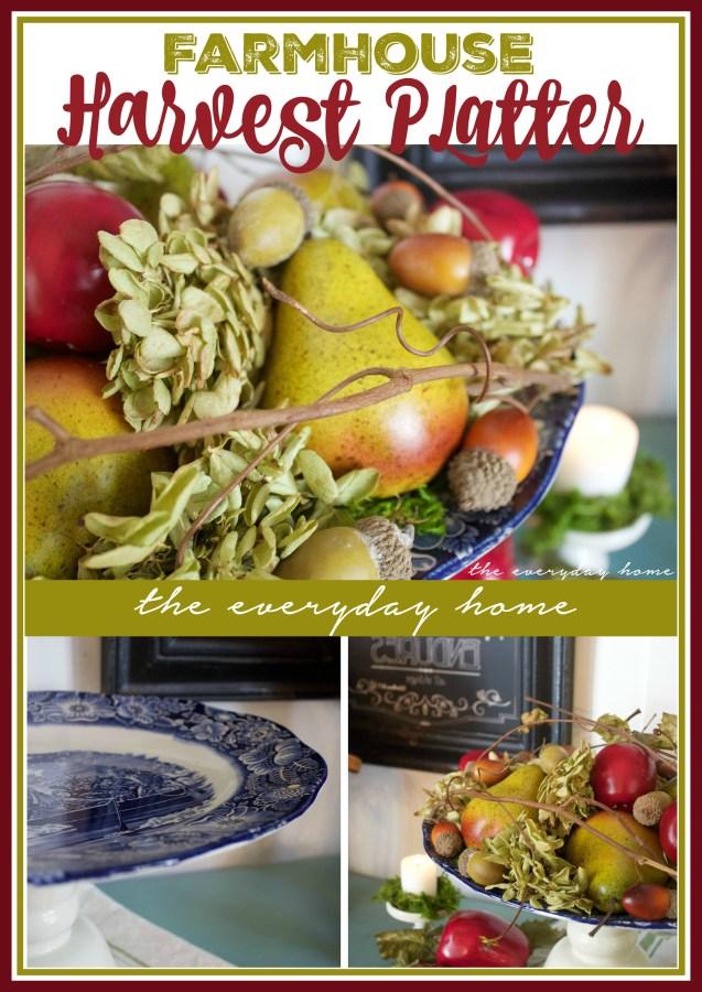 How to Create a Farmhouse Harvest Platter | The Everyday Home Blog | www.everydayhomeblog.com