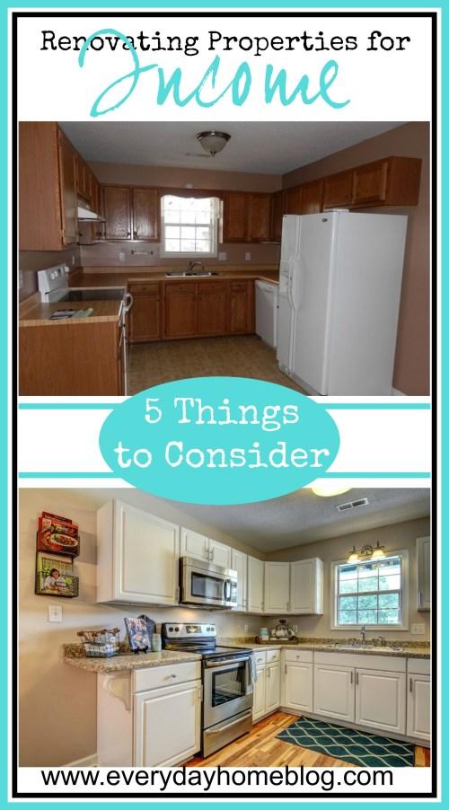 Renovating a Property for Income | The Everyday Home | www.everydayhomeblog.com