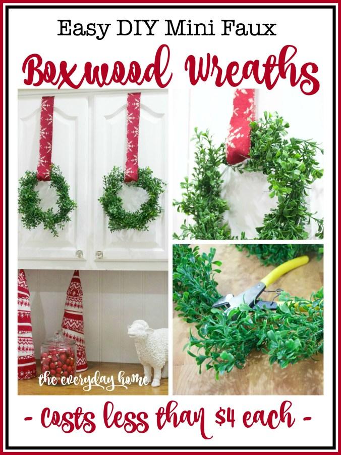 DIY Faux Mini Boxwood Wreaths   The Everyday Home Blog   www.everydayhomeblog.com