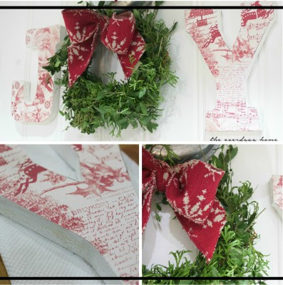 Paper Covered Wood Letters