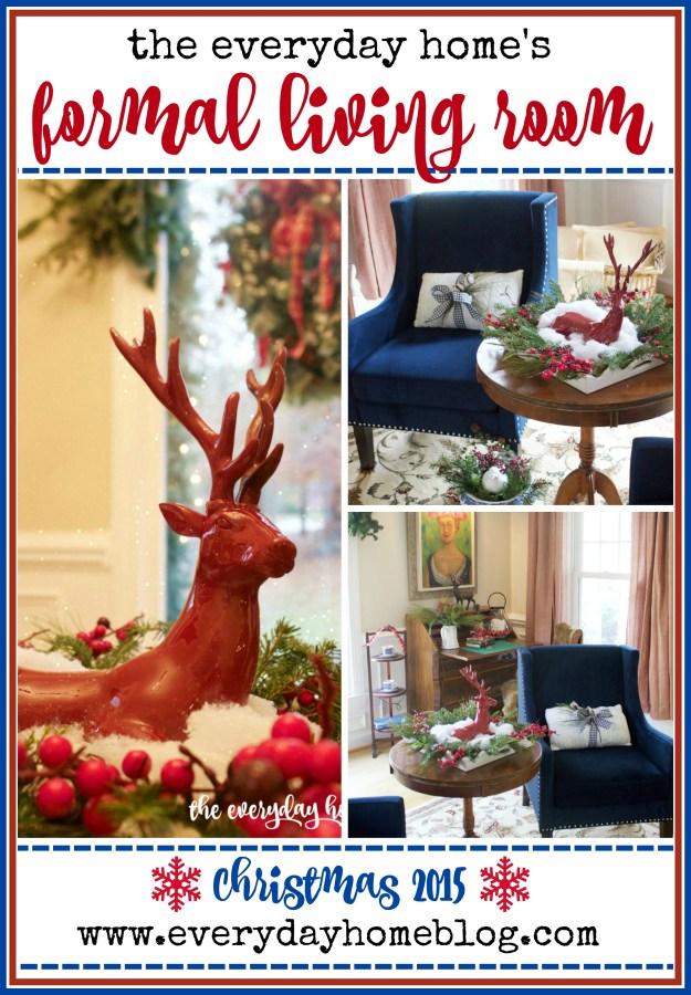 Christmas 2015 Formal Living Room | The Everyday Home | www.everydayhomeblog.com
