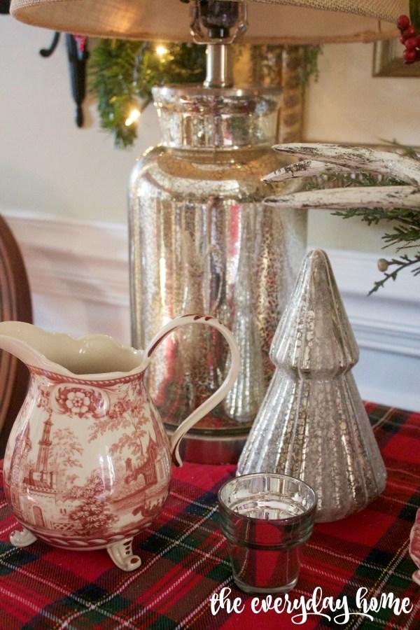 Mercury Glass Accessories   2015 Christmas Dining Room Tour   The Everyday Home   www.everydayhomeblog.com