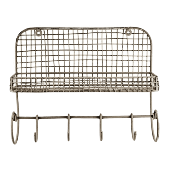 Wire Shelf with Hooks | The Everyday Home