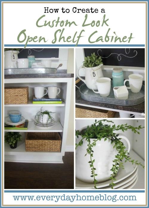 Custom Open Shelf Cabinet | The Everyday Home | www.everydayhomeblog.com