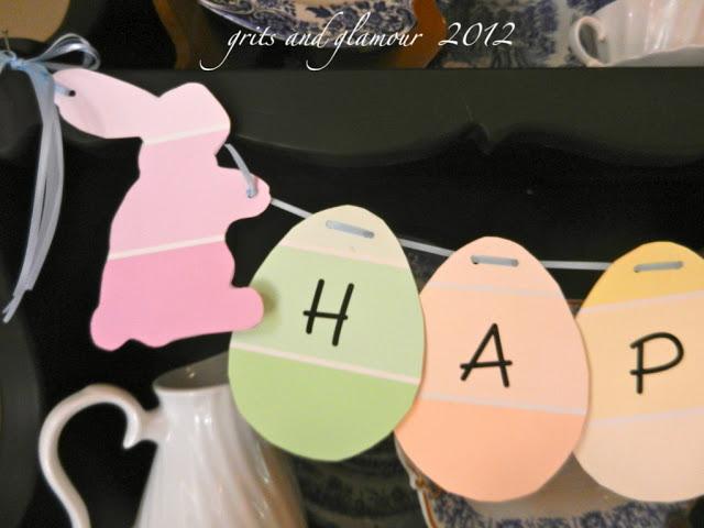 Easy Paint Chip Easter Banner | The Everyday Home | www.evevrydayhomeblog.com