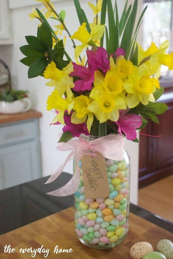 Easter Flowers in Mason Jar | The Everyday Home
