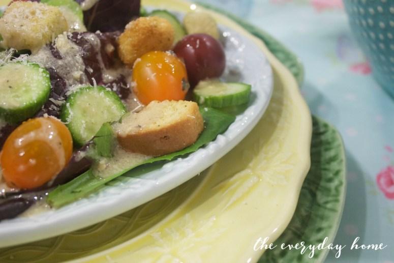 Salad with Tuscan Vinaigrette | The Everyday Home