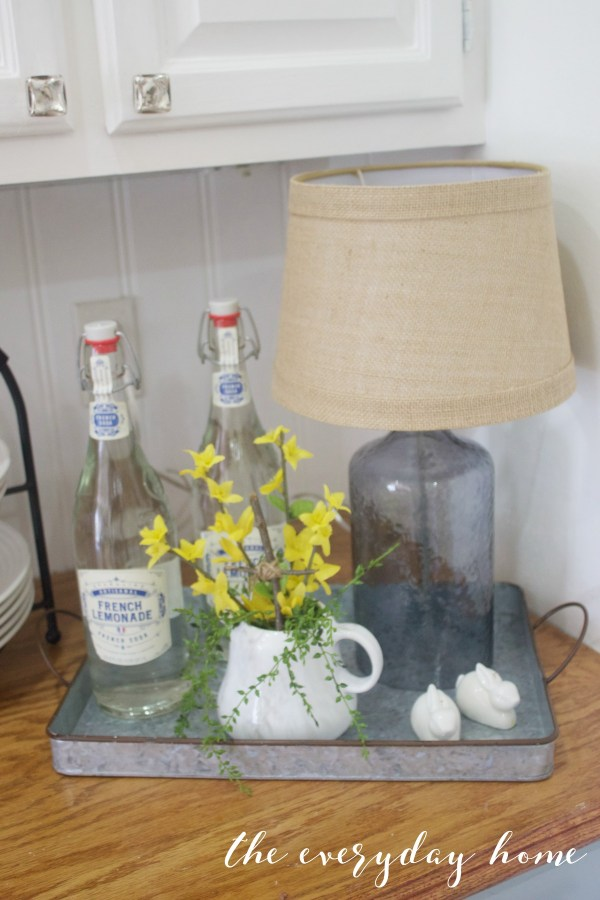 Spring Home Tour   Metal Tray and Lamp   The Everyday Home