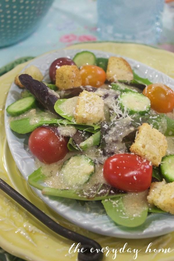 Tuscan Vinaigrette Salad | The Everyday Home