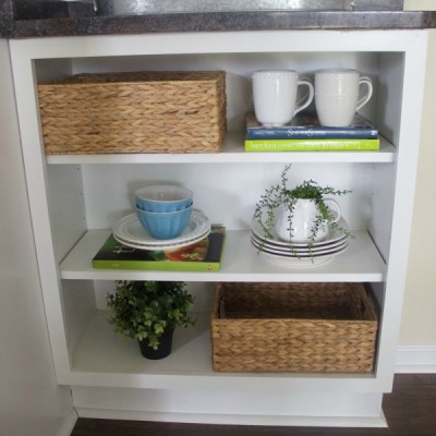 How to Build a Custom Look Open Shelf Cabinet