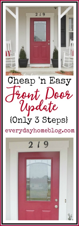 Cheap & Easy Front Door Update | The Everyday Home | www.everydayhomeblog.com