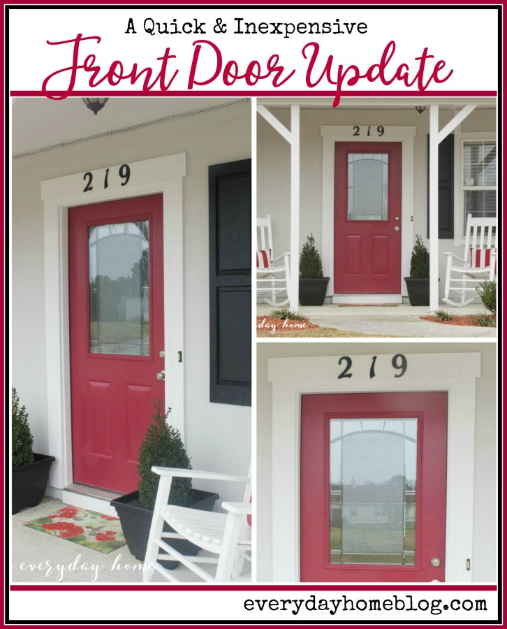 DIY Front Door Update | everydayhomeblog.com