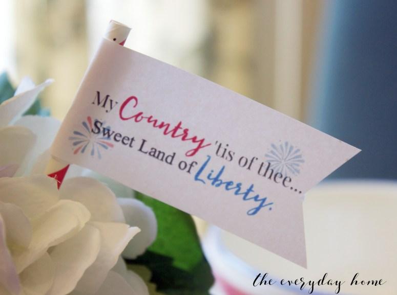 Liberty Mini Flag | The Everyday Home