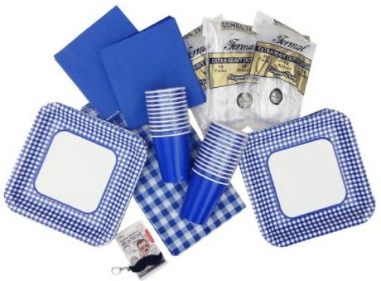 Blue Gingham Party Set