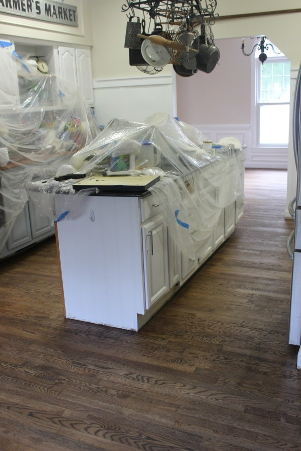 After Stained Kitchen