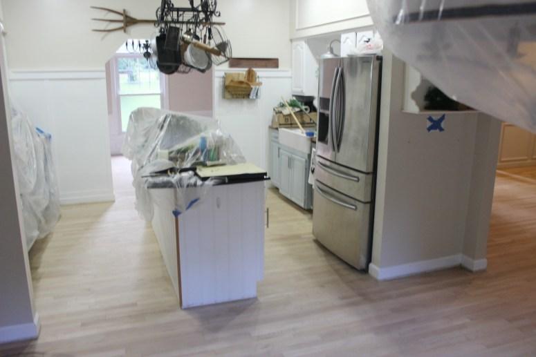Kitchen After Sanding