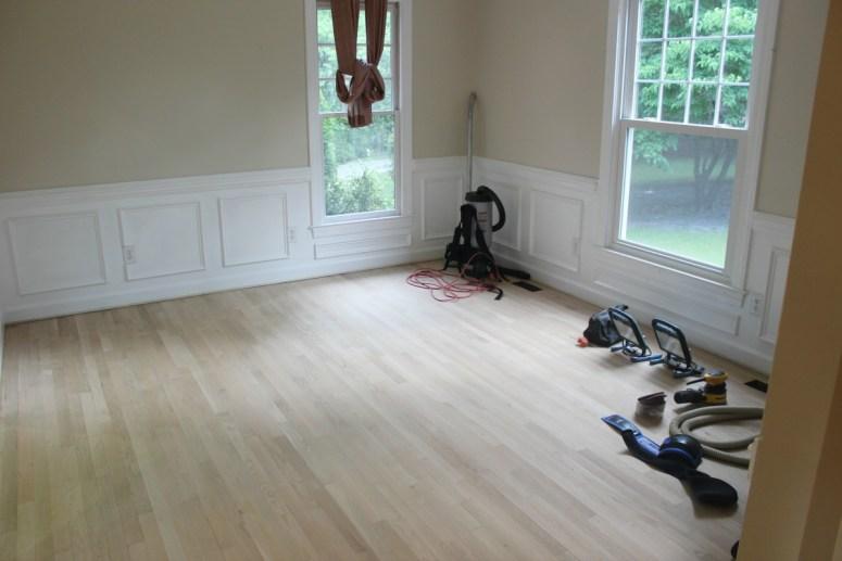 Living Room After Sanding