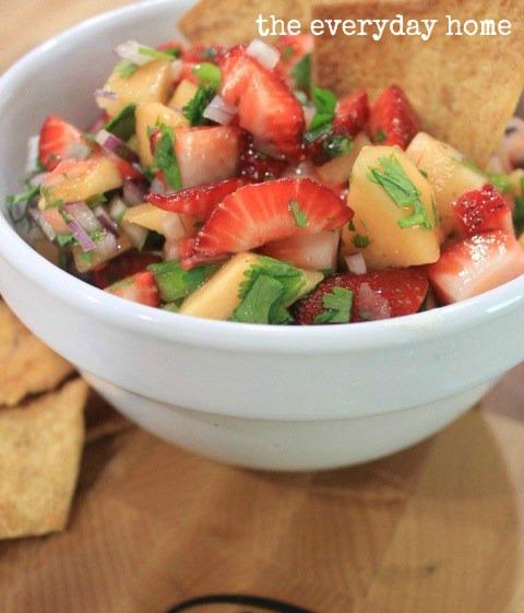 Strawberry Cantaloupe Salsa