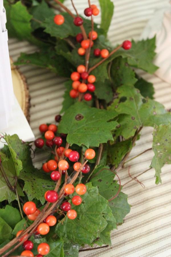 Adding-a-Berry-Garland-to-a-Fresh-Grapevine-Wreath   The Everyday Home   www.everydayhomeblog.com