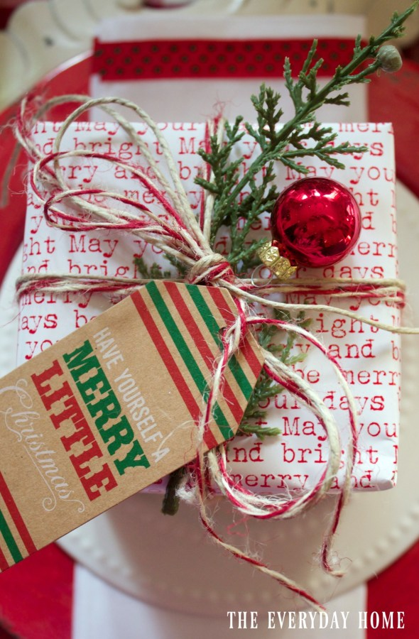 wrapped-package-on-santa-christmas-tablescape