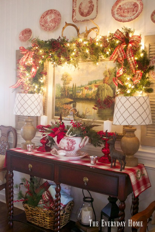 dining-room-buffet-for-christmas-with-white-lights