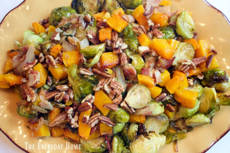 roasted-brussel-sprouts-and-butternut-squash-with-pecans