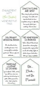 Pre-wedding Gift - Wine Tags