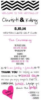 Chevron Collection - Wedding Program (front)
